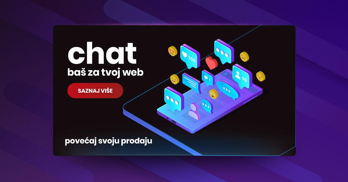 Novo u ponudi, chat baš za tvoj web!