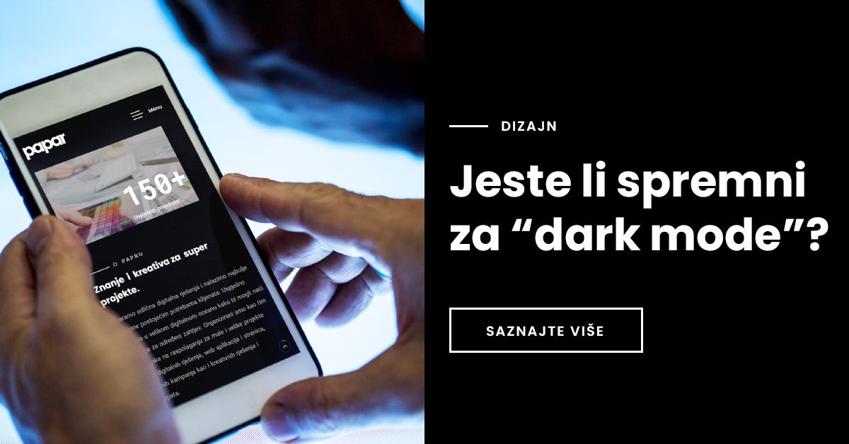 """Jeste li spremni za """"dark mode""""?"""